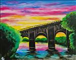 *NEW ART* Manayunk Bridge at Sunset