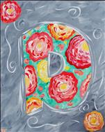 Floral Monogram - Choose your letter!