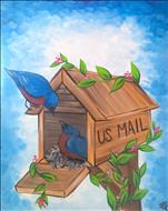*NEW ART* Bluebird Mailbox