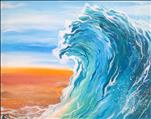 Adult Finger Painting! *Abstract Beach Wave*