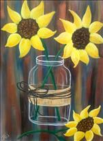 Coffee & Canvas $25 -Picked Sunflowers