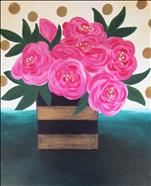 Polka Dot Peonies **NEW ART**
