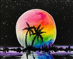 Colorful Moonlit Palms