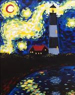 !!!Blacklight!!!           Lighthouse Starry Night