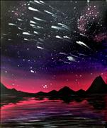 Meteor Shower at Dawn (Glow Paint)