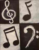 Black and White Music Notes ADULTS ONLY