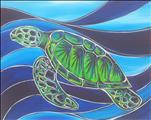 MANIC MONDAY! $35-3 Hours-Stained Glass Sea Turtle