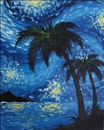 Starry Palm -Night