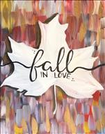 ($10 off!) Coffee & Canvas:  Fall In Love