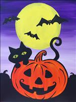 Kitty's Pumpkin 16X20 NEW ART! FAMILY DAY 8+