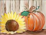 COFFEE & CANVAS: Rustic Sunflower Pumpkin