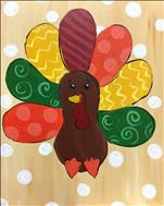 *NEW ART* Kids/Family Day-Colorful Turkey-Only $25