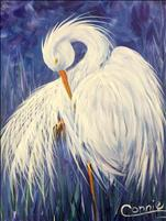 COFFEE & CANVAS: Florida Egret