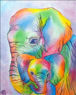 Free Drink! Pastel Elephants (3hr Class)