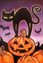 *Coffee n Canvas* Halloween Cat