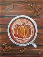 Pumpkin Spice Coffee & Canvas $25
