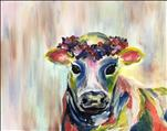 Colorful Flower Cow