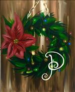 Lighted Poinsettia Wreath-ENJOY! 18+