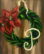 Monogram Poinsettia Wreath