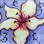 NEW****12X12 Square Canvas ~ Lillies*****