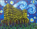 Starry Night Over Detroit Train Station