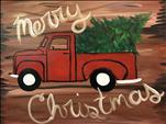 *NEW ART*- Rustic Holiday Truck-Open To All Ages