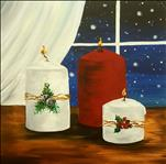 Silent Night on our 12x12 Canvas
