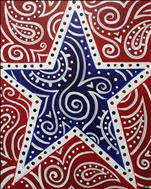 Patriotic Paisley Star