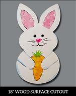*FAMILY*  Wood Shaped Easter Bunny **NEW**