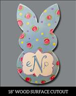 Easter Bunny Monogram Cutout