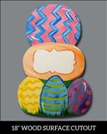 Easter Egg Stack Cutout