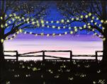 LED Lighted Canvas! Twinkling Lights at Dusk