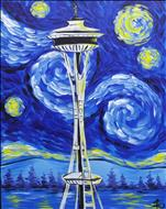 Starry Night Over the Space Needle