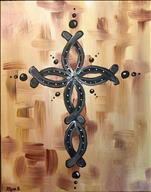 NEW ART! Rustic Horseshoe Cross