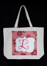 NEW CANVAS TOTE BAG! - Monogram (Customize Colors)
