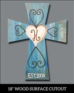 PUBLIC: Rustic Cross Cutout:Customizeable: SAVE $5