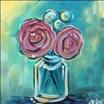 Paper Flowers 12x12 Canvas