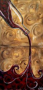 $30 12x12 ~Wine of the Vine-Couples Painting